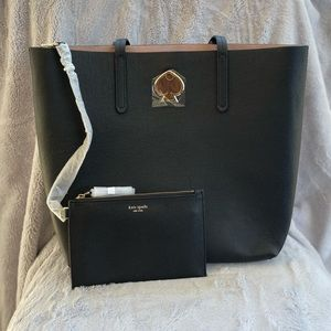 NWOT Kate Spade Suzy Large North South Tote Black
